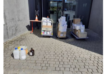 COVID-19 : Don de matériel aux établissements de santé de la région