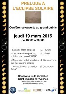 Conférence: Prélude à l'éclipse solaire
