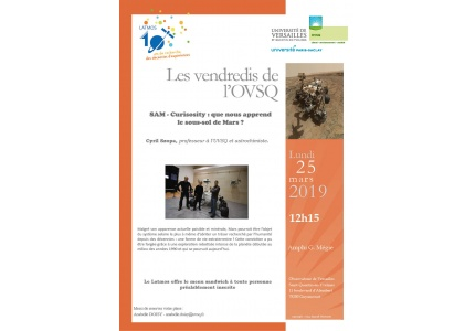 Conférence ouverte à tous lundi 25 mars