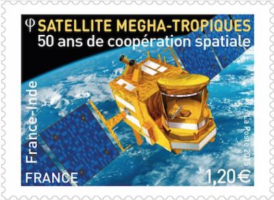 2 Timbres pour les 50 ans de la coopération spatiale franco-indienne
